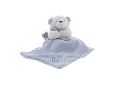 Mini Blanket Urso Azul - Zip
